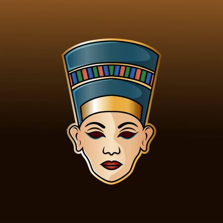 Nefertiti head esport mascot logo