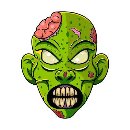Zombie head mascot logo design
