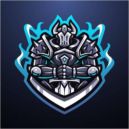 Guardian knight esport mascot logo