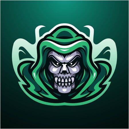 Reaper skull head mascot logo Logo