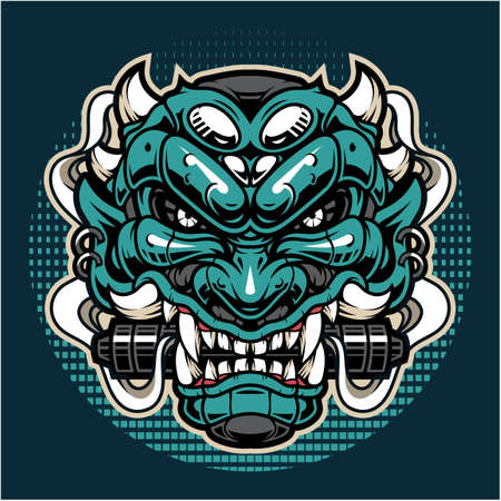 Oni esport mascot logo design