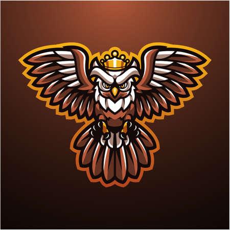 Mystical bird esport mascot logo