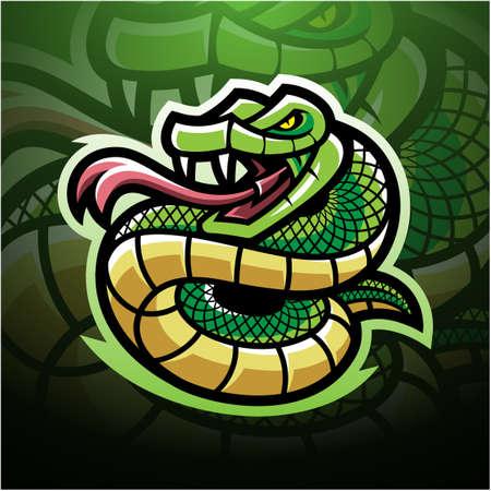 Viper snake mascot logo design
