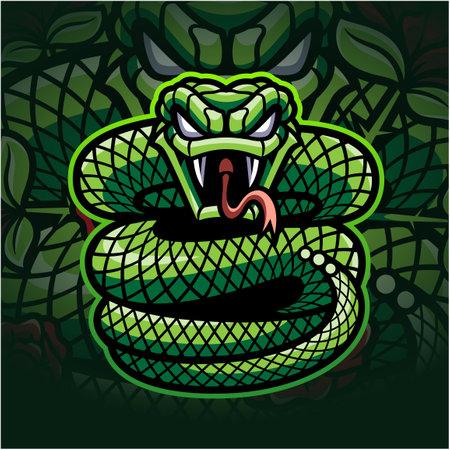 Viper esport mascot logo design Logo