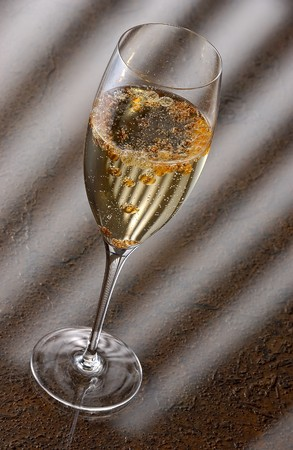 intoxicating: Champagne with molecular aperol