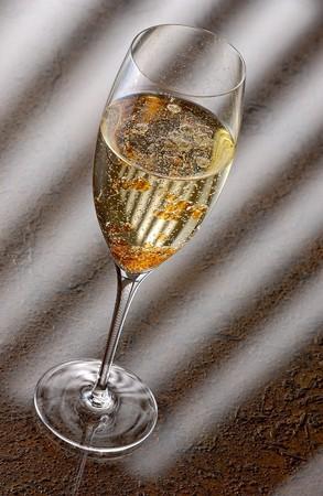 soporific: Champagne with molecular aperol