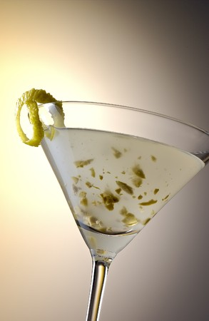 soporific: Martini cocktail, inspired by molecular cuisine