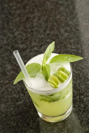 soporific: Mojito with basil in a sour glass