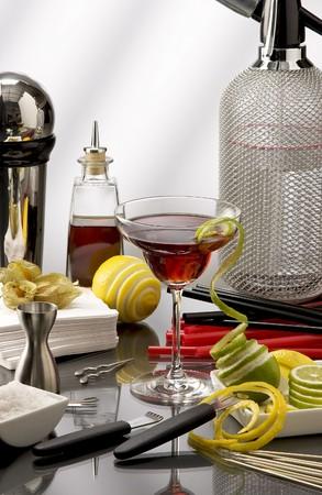 cocktail mixer: Mini Bar cocktail mixer accessories.