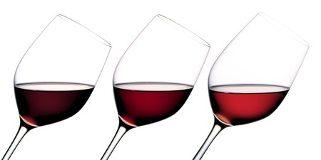 intoxicating: Three glasses of red wine