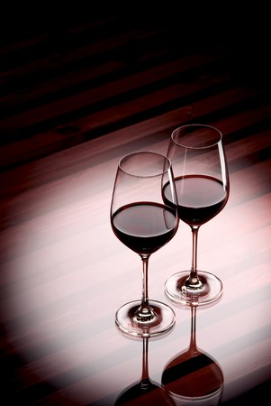 soporific: Two Glasses of Red whine in an illumination