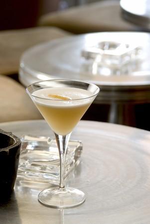 pellucid: Hemmingway Daiquiri with foam in a martini-glass.