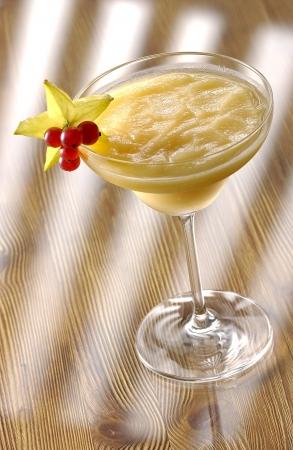 intoxicating: Frozen Mango Margarita with star decoration.