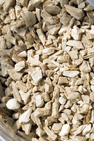 calamus: Pieces of sweet calamus seeds