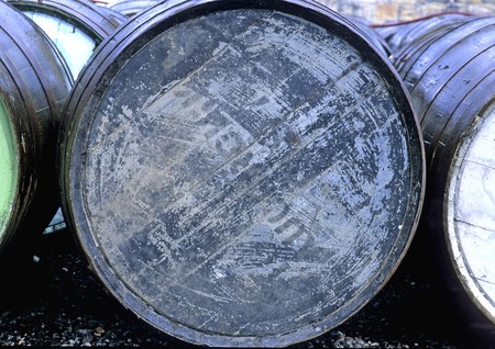 Old Barrel in a yard waiting to be refurbished. Stock Photo - 8185965