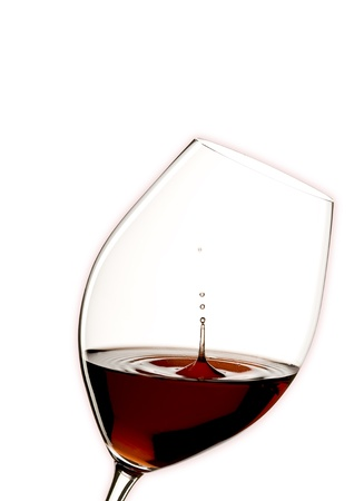 glass of red wine with a white background Stock Photo - 8287684