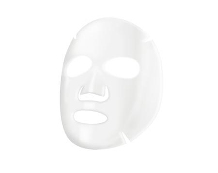 tratamientos faciales: M�scara facial de hoja en el fondo blanco Foto de archivo