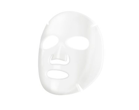 Facial sheet mask on white background