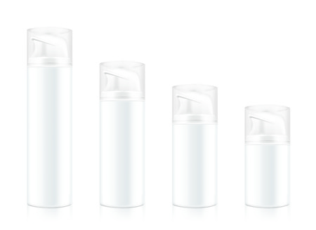 big size: Cosmetic bottle mock up big size to small size