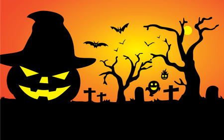 Background and illustration about Halloween in great vector file Vector