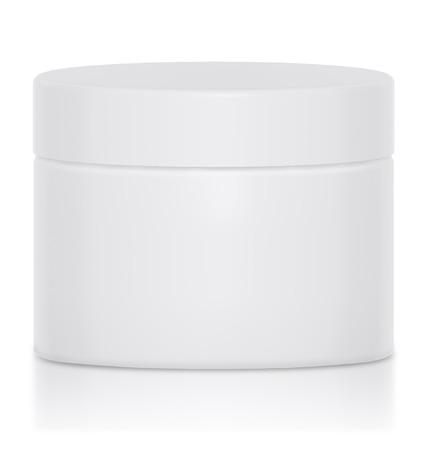 frasco: Tarro de crema en blanco un logotipo era un buen maqueta envases