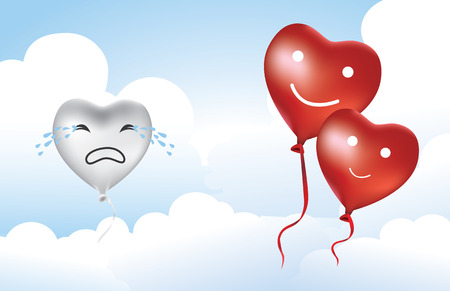 love hurts: Silver Balloon broken heart because what to see