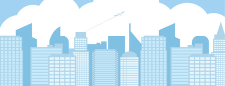 tableau: Blue Building Background for about Urban Job