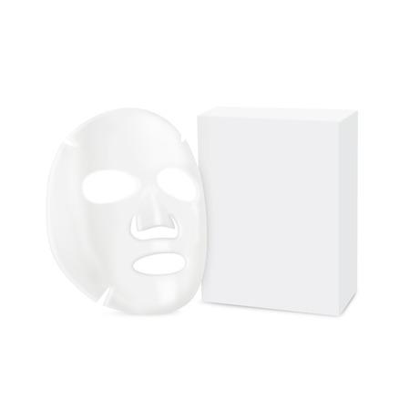hoja en blanco: M�scara facial de hoja en la vista lateral y la caja aislada