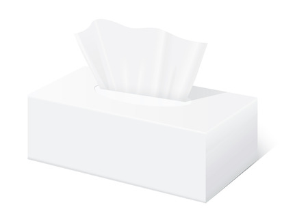 Tissue box mock up White Tissue box blank label and no text for mock up packaging
