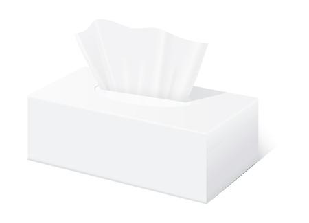 Tissue doos mock up Witte tissue box leeg etiket en geen tekst voor mock up verpakking Stock Illustratie