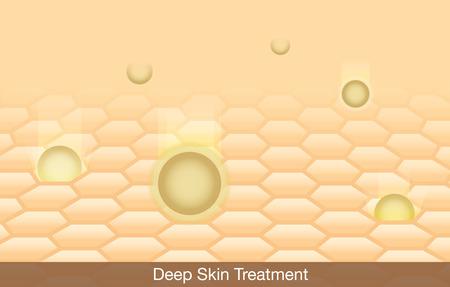 epidermis: Active ingredient treatment deep into skin.