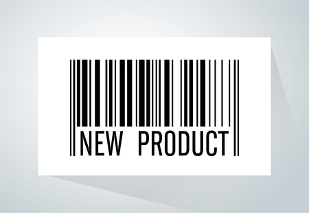 coming soon: Barcode have wording new product under barcode tab on white paper.This picture meaning to new arrival product