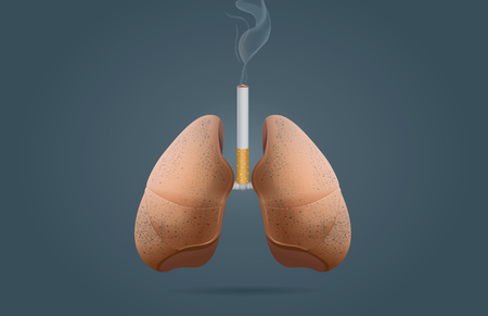 baccy: Lung cancer from smoking Illustration
