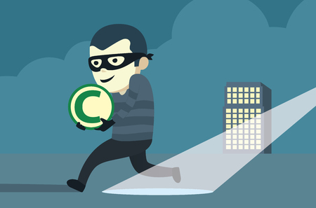 run away: Bandit wearing mask robbery copyright of company then run away from arrest.
