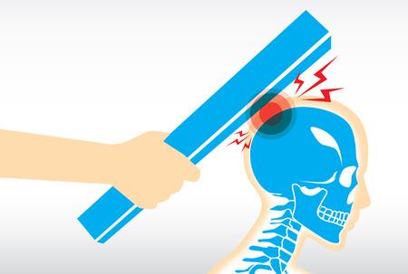 senseless: Human injured at head and skull from hit