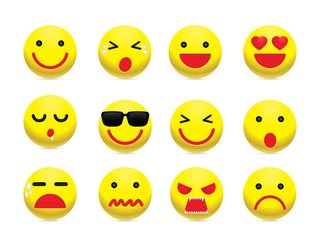 emotion: Emotion face icon set. Simple emotion icon design for chat and social media.
