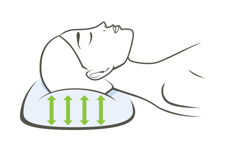 Woman Sleeping With A Pillow Which Have Good Stretch To Support