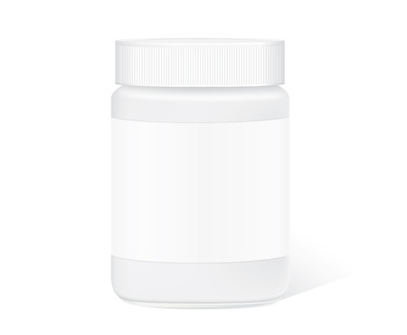 glass jar: Glass jar with clear label isolated on white background for packaging design template of any product.