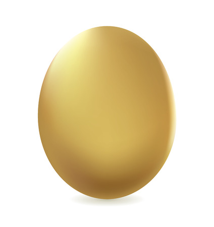 spending: Golden egg vector isolated on white background. For business concept or edit to other job.
