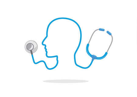 pulsation: Stethoscope and human head