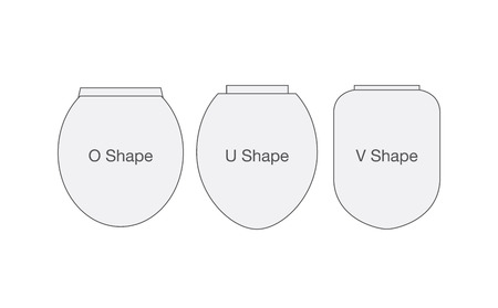 toilet bowl: Shape of toilet bowl cover. Illustration about select accessory of sanitary ware in bathroom. Illustration