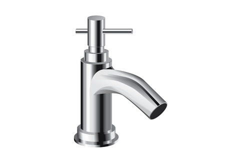 spew: Single hole bathroom faucet . Single handle controls. object about bathroom interior.