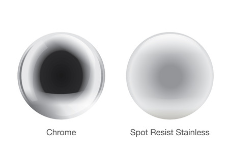 steely: Metal texture icon 2 type.  ball and spot resist stainless ball. Illustration
