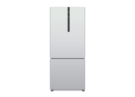 big size: refrigerator big size in front view isolated in white background.