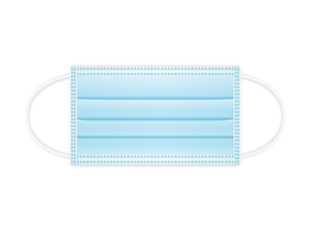 Medical shielding bandage vector green color isolated white background.