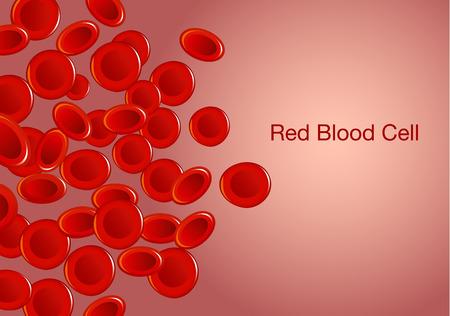 Les globules rouges et les mots sur le fond. Illustration sur la santé et le médical.