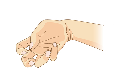 Finger and wrist bend and jerk from Epilepsy Symptoms Stock Illustratie