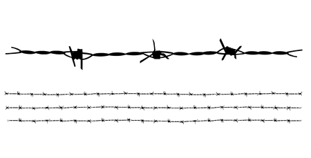 Silhouette Barbed wire template vector ideal for decorate illustration or background.