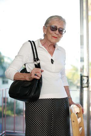 Portrait of a senior woman indoors. photo