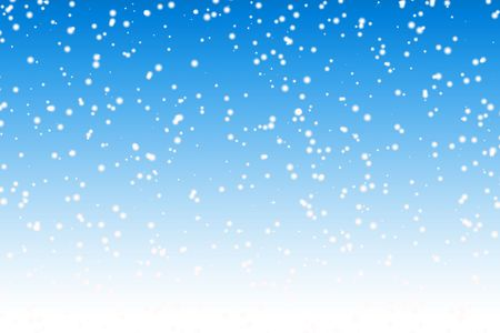 snow falling: Falling snow over night blue winter sky background